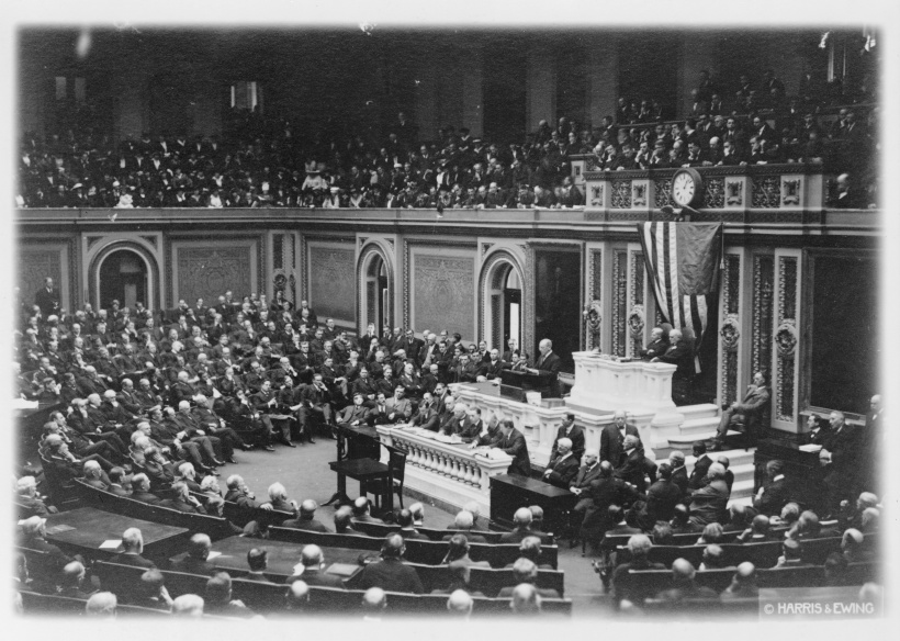 President Wilson Addresses Congress, 1917